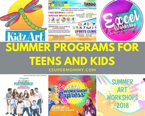 2018 Summer Programs for Teens and Kids • Experience of a Super Mommy