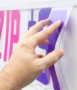 pink and purple plastic sign letters flex change letters With flex change letters