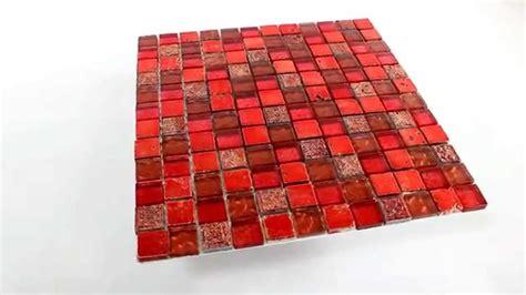 mosaik fliesen rot glas marmor mosaik fliesen 23x23x8mm lava rot