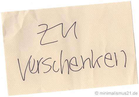 Zu Verschenken by Des Minimalisten Neue Kleider Minimalismus21