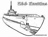 Coloring Submarine Popular sketch template