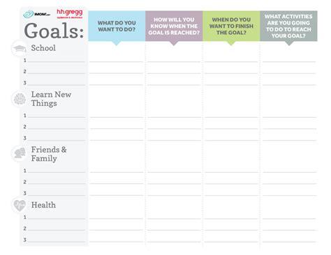 brilliant goals chart  kids imom
