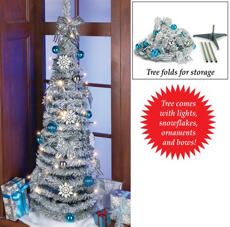 pull up christmas tree with lights lighted pull up glitter christmas tree by collections etc