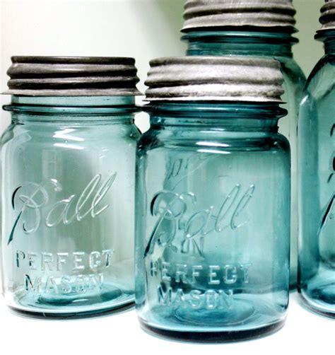 blue jars mason jar antique blue ball jar pint size by riverhousedesigns