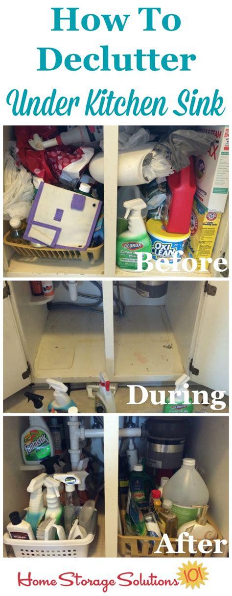 declutter   kitchen sink cabinet