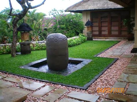 desain taman  kolam ikan minimalis  rumah blog