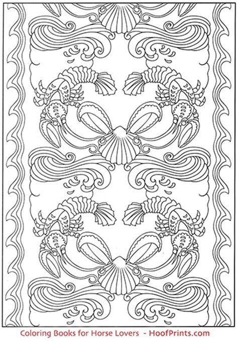 art nouveau animal designs coloring book wwwhoofprintscom