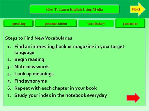 How To Learn English Using Media