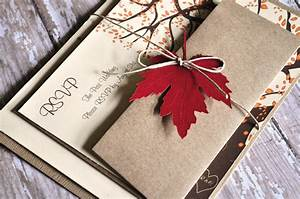 fall wedding invitations autumn wedding by alittlemorerosie With blank autumn wedding invitations