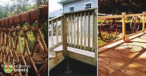 32 diy deck railing ideas designs that are sure to With 4 creative porch railing ideas for your house