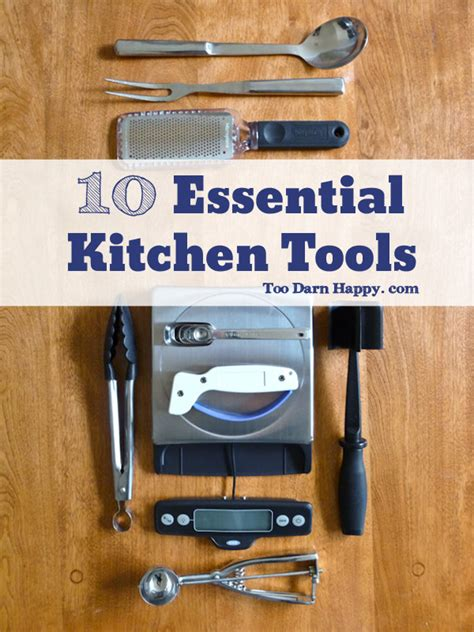 saturday sips  essential kitchen tools  darn happy