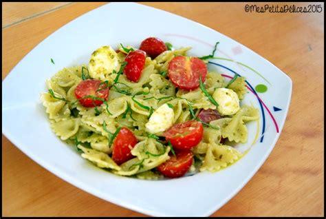 repas fra 238 cheur salade de p 226 tes au pesto mes petits d 233 lices