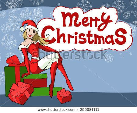 Santa Claus With Maiden In Bright Clothes Stock Santa Claus Dressed Stock Vector 525560722