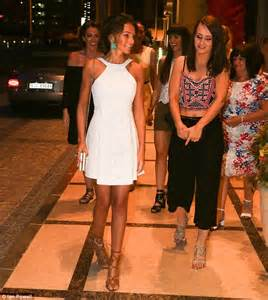 Michelle Keegan wears bridal-inspired white dress for hen party | Daily Mail Online
