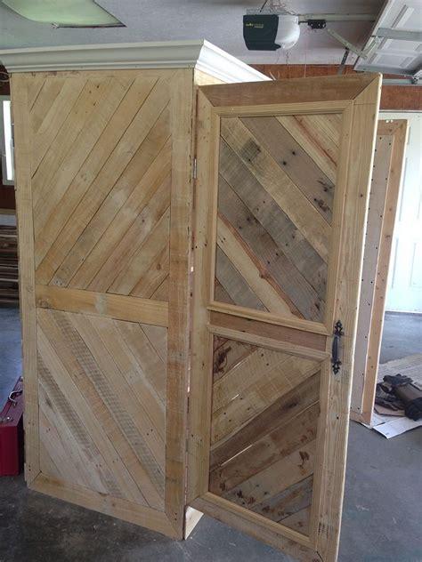 repurposed pallet wardrobe hometalk