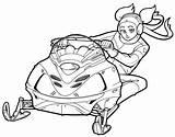 Grebo Snowmobiling sketch template