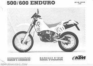 1992 Ktm 500 600 Lc4 Motorcycle Owners Manual    Chassis Manual