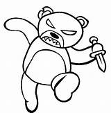 Coloring Bear Scary Teddy Evil Knife Drawing Monster Creepy Holding Drawings Halloween Draw Jack Sheets Lantern Sketch Getdrawings Template Sheet sketch template