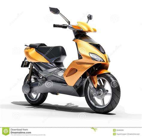 trendy orange scooter close  royalty  stock image