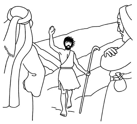 free coloring pages of st john the baptist
