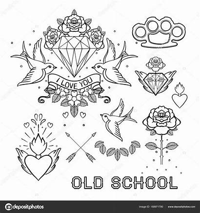 Coloring Tattoo Pages Template