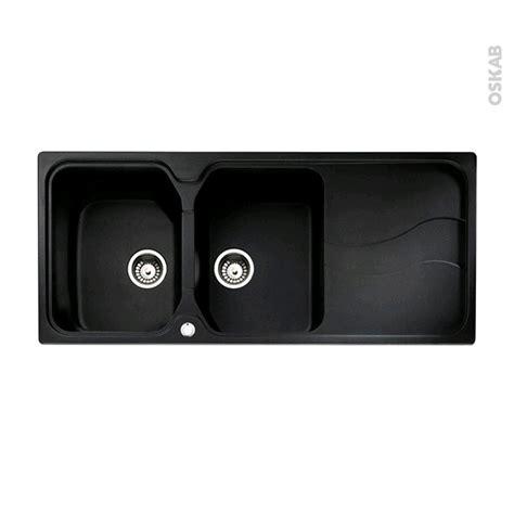 evier cuisine noir 2 bacs evier de cuisine sorrento granit noir 2 bacs égouttoir à