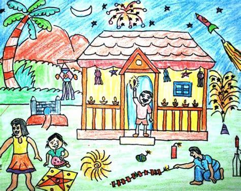 diwali drawing ideas  diwalidrawingsforchildrens