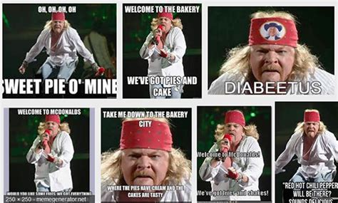 Axl Rose Memes - pin axl rose 2010 fat on pinterest