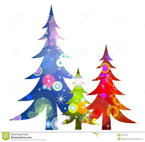 retro weihnachtsbaum klipp kunst lizenzfreie stockfotos
