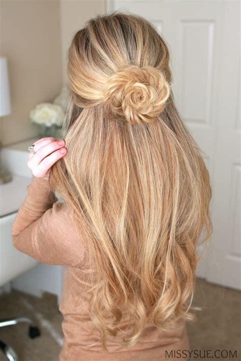 fishtail braid flower hair tutorials frisuren frisur