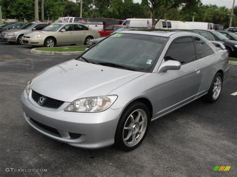 Satin Silver Metallic 2004 Honda Civic Ex Coupe Exterior