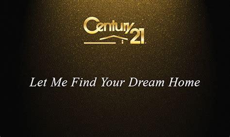 century  gold realtor business card design