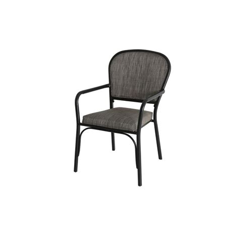 hton bay sling stack patio arm chair 2 pack
