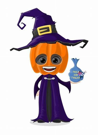 Halloween Clipart Costume Vector Character Hat Cartoon