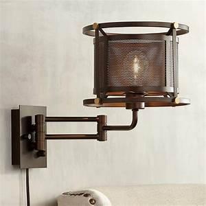 Mason, Oil-rubbed, Bronze, Mesh, Swing, Arm, Wall, Lamp