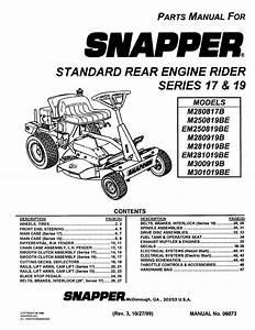 Snapper Lawn Mower M280817b User Guide