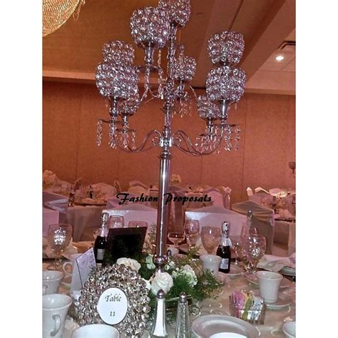 chandelier wedding centerpieces