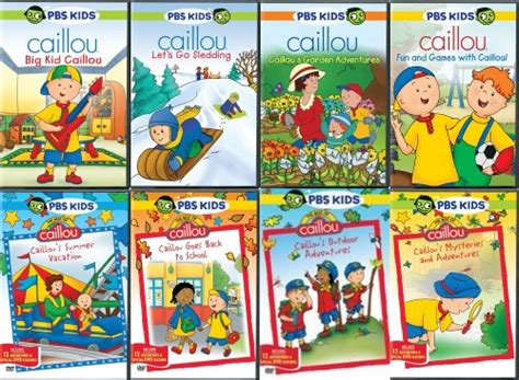 caillou lot of 8 new sealed dvd pbs ebay