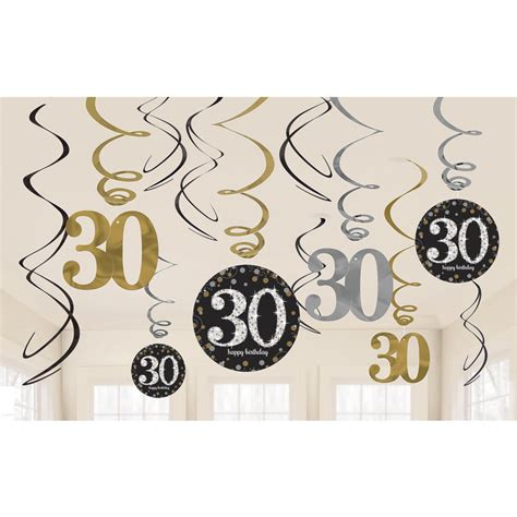 deko gold silber 12 deko spiralen zahl 30 gold silber g 252 nstig bestellen