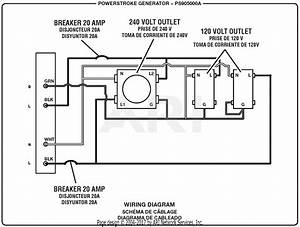 Homelite Ps905000a Powerstroke 5 000 Watt Generator Parts Diagram For Wiring Diagram