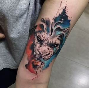 Tattoo Löwe Arm : 25 best ideas about lion tattoo arm on pinterest lions tattoo leo l we tattoos and l we ~ Frokenaadalensverden.com Haus und Dekorationen