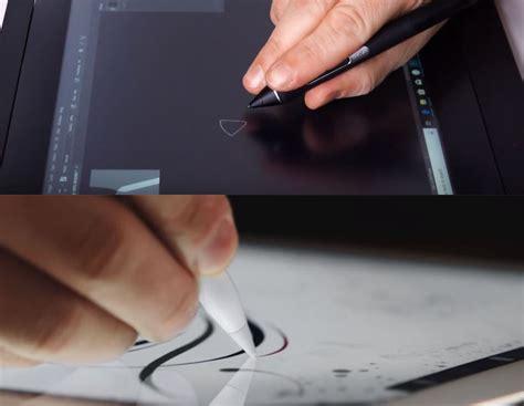 cursor ipad hovering cintiq wacom visible pro bottom