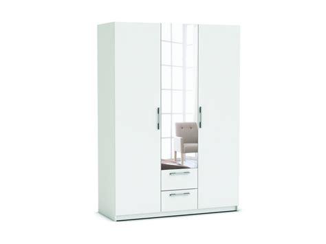 armoire chambre portes coulissantes armoire 3 portes 2 tiroirs saturne coloris blanc vente