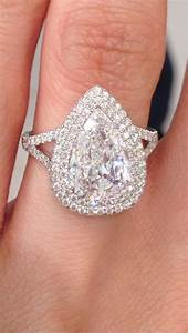 my double halo pear shaped gia engagement ring from alan With pear diamond wedding ring