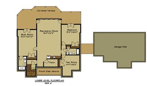 open house plan   car garage appalachia mountain ii