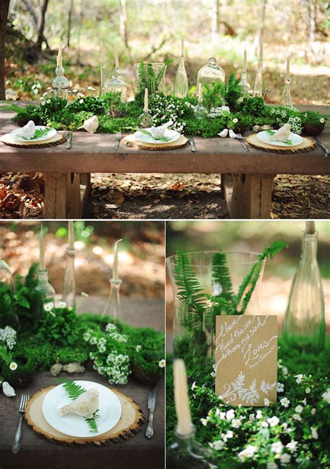 stunning woodland forest wedding reception ideas