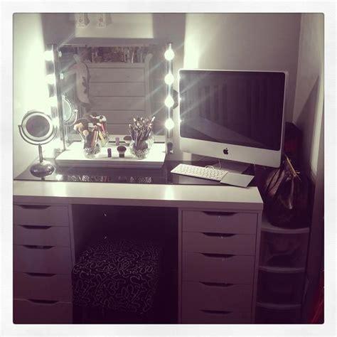 diy vanity mirror ikea beautybyleti diy vanity with mirror lights