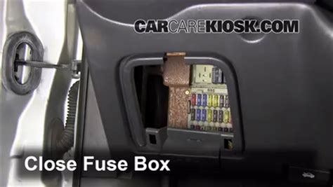 interior fuse box location   ford focus
