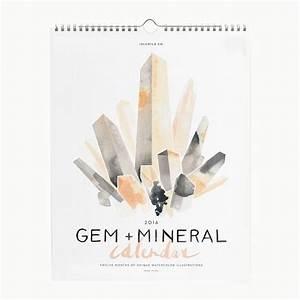 2016 Gem & Mineral Wall Calendar