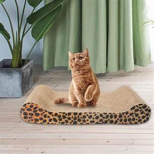 Corrugated, Cardboard, Cat, Scratching, Bed, Pad, Scratcher, Toy, With, Catnip, 5, Style
